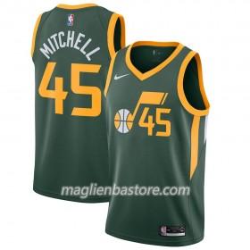 7801120a6c1fde Maglia NBA Utah Jazz Donovan Mitchell 45 2018-19 Nike Verde Swingman - Uomo