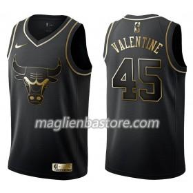 2cb766652281b4 Maglia NBA Chicago Bulls Denzel Valentine 45 Nike Nero Golden Edition  Swingman - Uomo